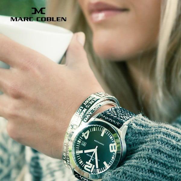Unisex hodinky Marc Coblen s remienkom a ozdobou ciferníku naviac P5