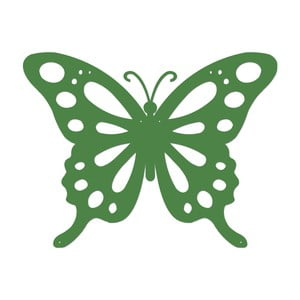 Zelená kovová nástenná dekorácia Wall Decor Butterfly