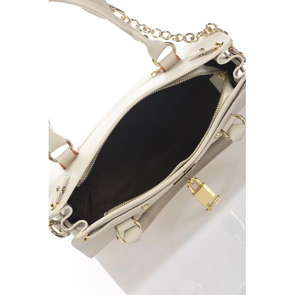 Béžová kožená kabelka Giulia Massari Clementine