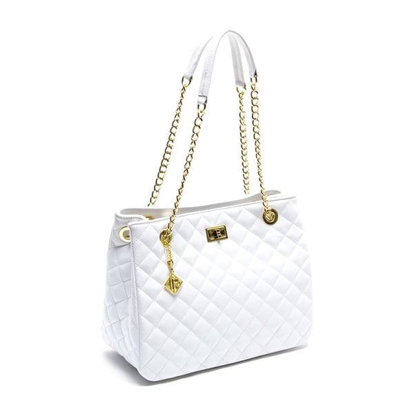 Kožená kabelka Luz, biela