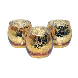 Set 3 svietnikov CIMC Metallic Tealight