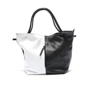 Kožená kabelka Mangotti 1168, čierna