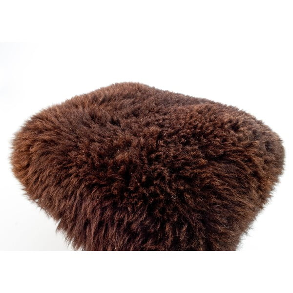 Stolička z ovčej kože Nia Chocolate