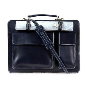 Čierna kožená taška cez rameno Italia in Progress Maestro