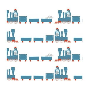 Tapeta do detskej izby Art For Kids Trains, 48 × 1000 cm