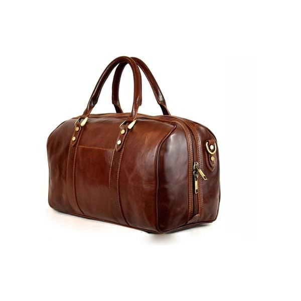 Kožená taška Santo Croce VL965BIS Brown