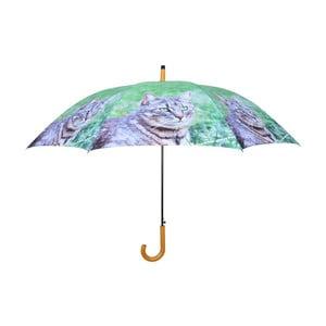 Zelený dáždnik s mačkami Esschert Design