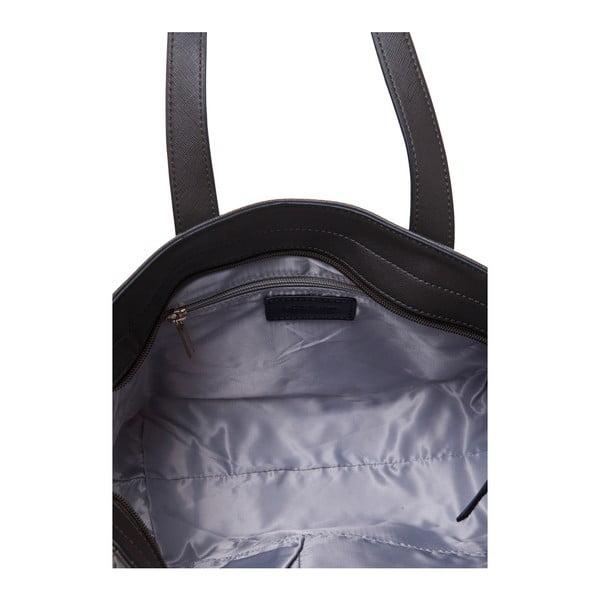Kožená kabelka cez rameno Marta Ponti Pocket Deux, sivá/béžová