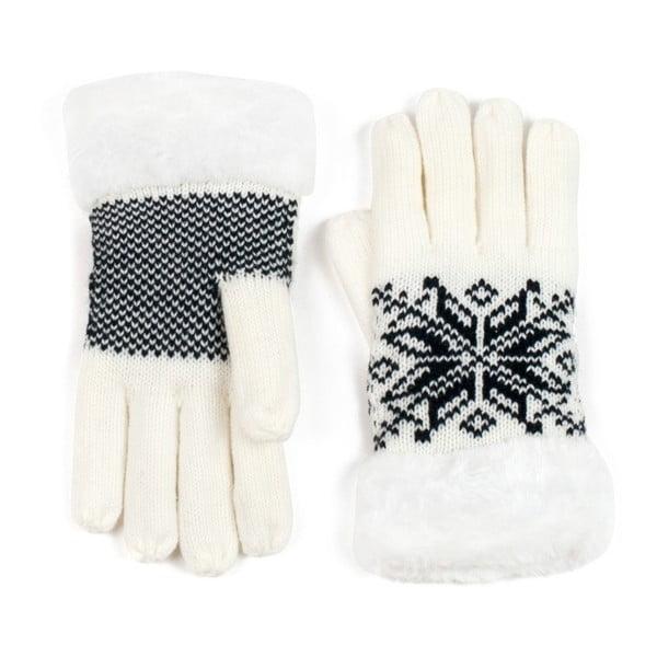 Biele prstové rukavice Lola
