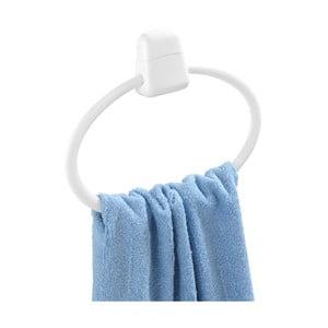 Biely nástenný guľatý držiak na uteráky Wenko Pure