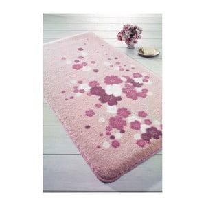 Ružová predložka do kúpeľne Confetti Bathmats Spray, 100x160cm