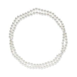 Biely perlový náhrdelník Pearls Of London, 120 cm