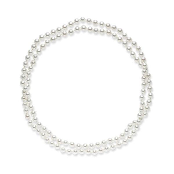 Biely perlový náhrdelník Pearls Of London, dĺžka 90 cm