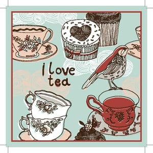 Sada 2 prestieraní I Love Tea, 20x20 cm