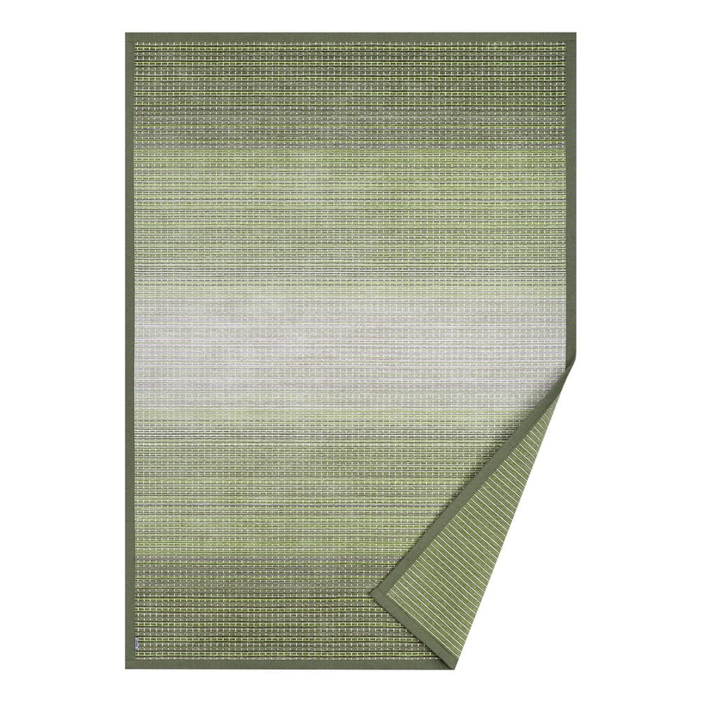 Zelený obojstranný koberec Narma Moka Olive, 70 x 140 cm