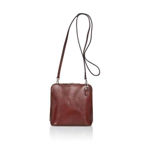 Hnedá kožená kabelka Giorgio Costa Jacintha