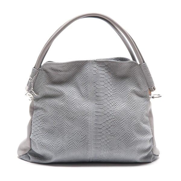 Kožená kabelka Zita, sivá