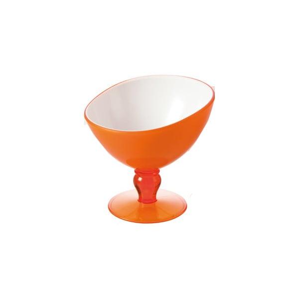 Oranžový pohár na dezert Vialli Design Livio, 180 ml