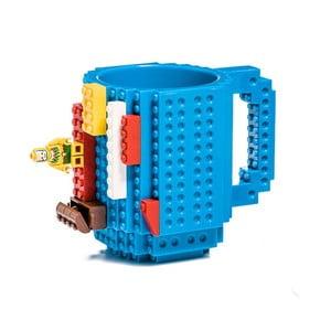 Modrý plastový hrnček s motívom LEGO s kockami Just Mustard, 350 ml