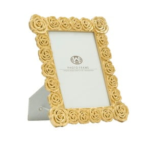 Stolový fotorámik v zlatej farbe Mauro Ferretti Roses, 15 × 20 cm
