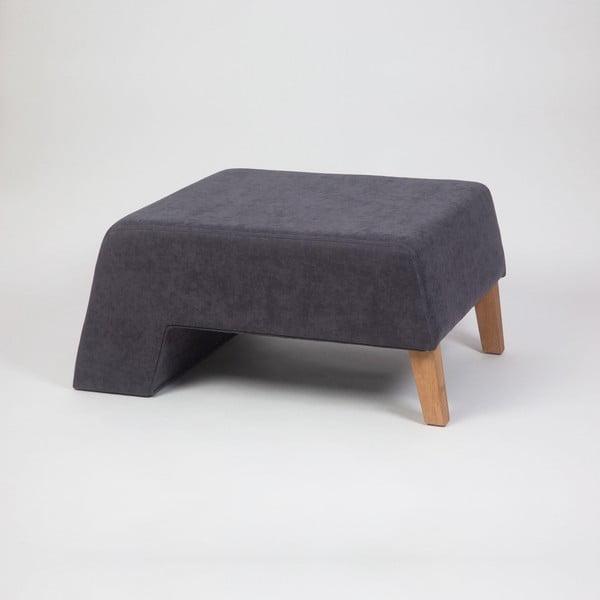 Antracitovosivá podnožka s drevenými nohami Kate Luisa