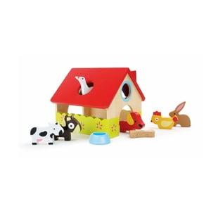 Drevený domček na hranie s figúrkami Legler Farm