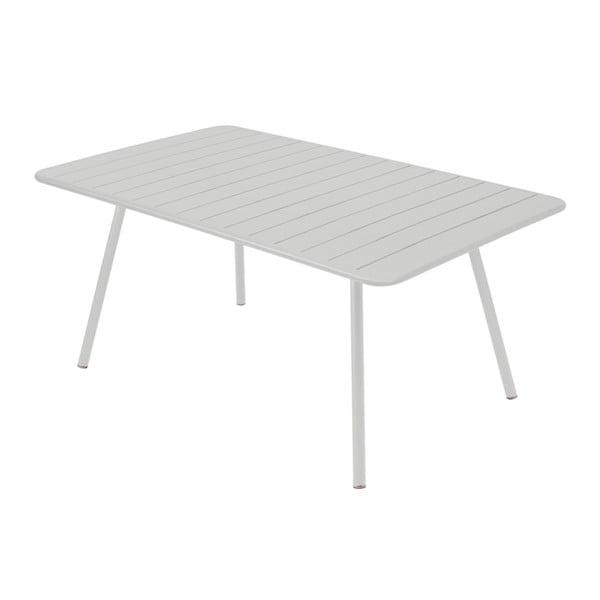 Svetlosivý kovový jedálenský stôl Fermob Luxembourg