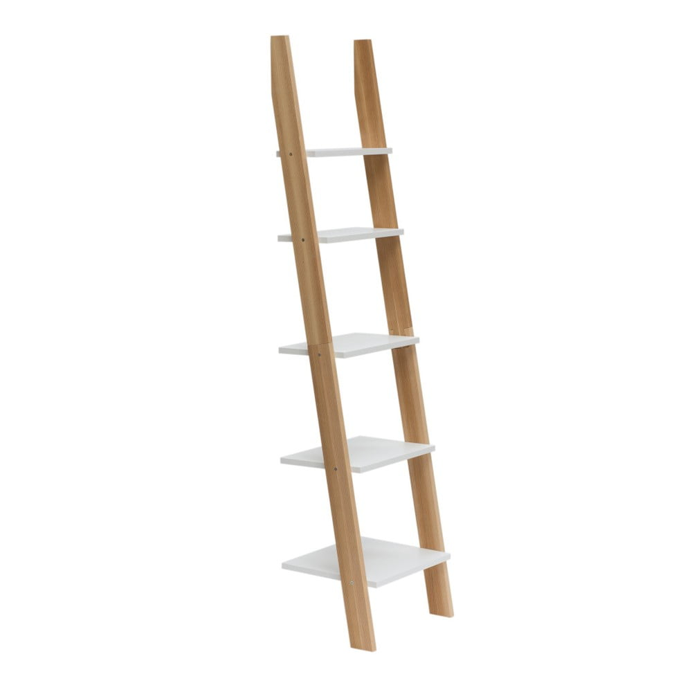 Biela rebríková polica Ragaba ASHME, šírka 45 cm