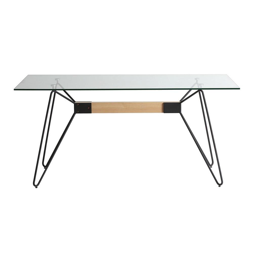 Jedálenský stôl s čiernymi nohami Marckeric Nicole, 160 x 90 cm