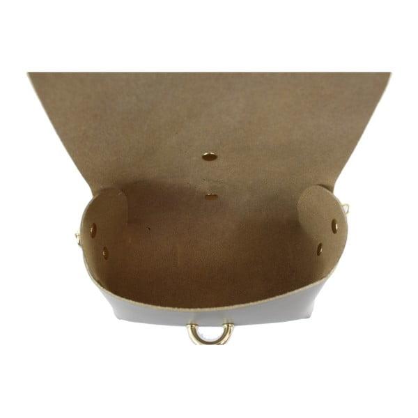 Taupe kožená kabelka Loira