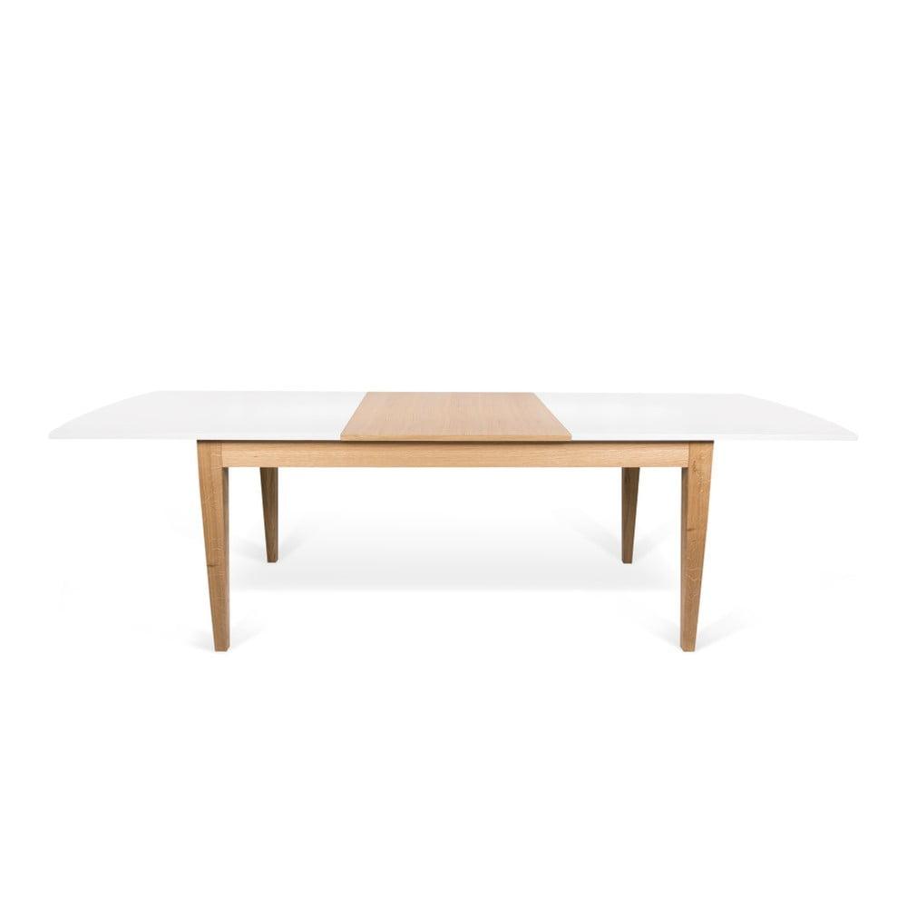 Biely rozkladací jedálenský stôl TemaHome Niche