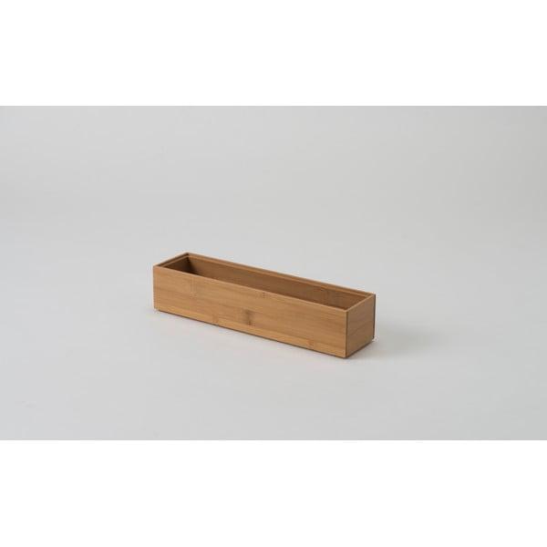 Bambusový organizér Compactor Woody, 30 × 7,5 × 6,35 cm