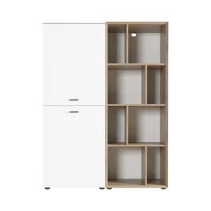 Biela skriňa s policami Germania Coruna, šírka 108 cm