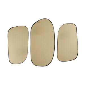 Sada 3 nástenných zrkadiel v zlatej farbe PT LIVING Concord