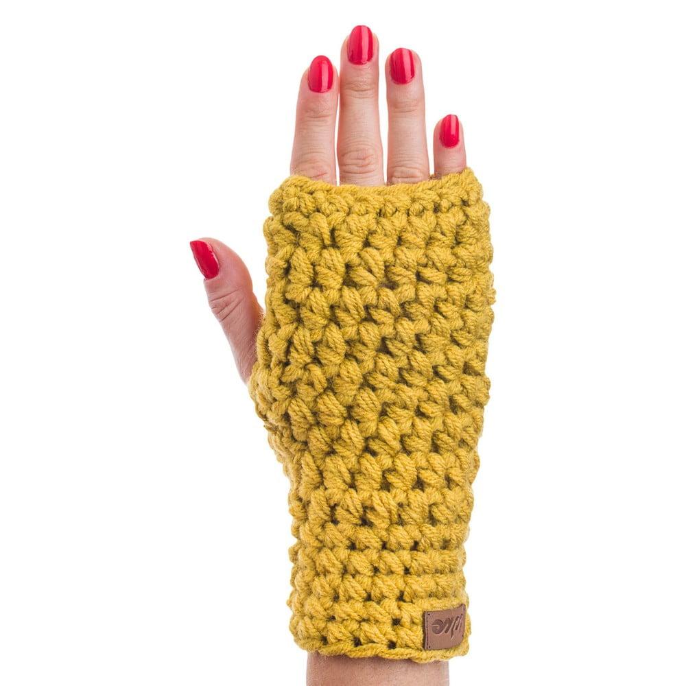 Horčicovožlté ručne háčkované návleky DOKE Ash