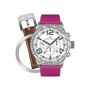 Dámske hodinky Marc Coblen s remienkom a ozdobou ciferníku naviac P7