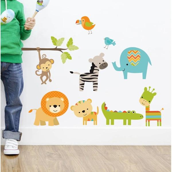 Dekoratívna samolepka na stenu Color Animals