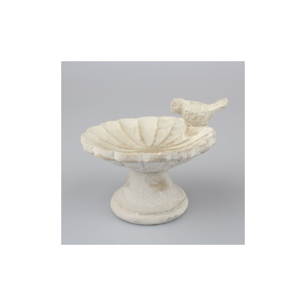 Sivá betónová nádoba na vodu pre vtáčiky Dakls II