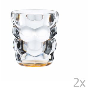 Sada 2 pohárov z krištáľového skla Nachtmann Bubbles Orange, 330 ml