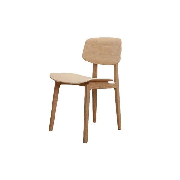Prírodná jedálenská stolička z dubového dreva NORR11 NY11