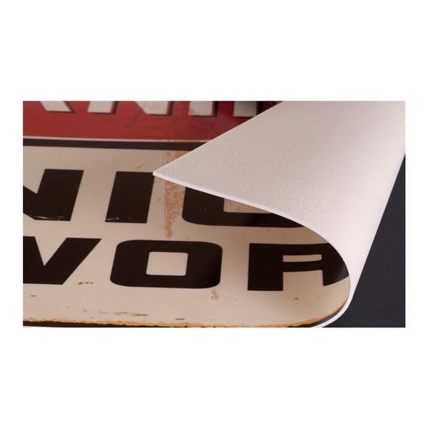 Koberec z vinylu Cubos Transparentes Turquesa, 99x120 cm