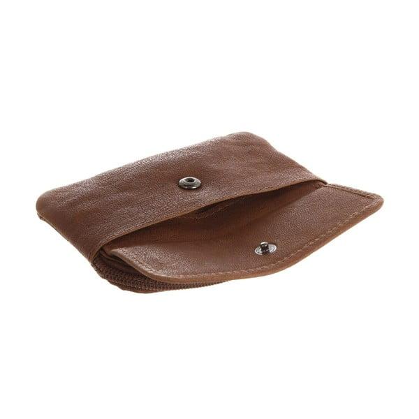 Kožená peňaženka na mince Keeper Tan