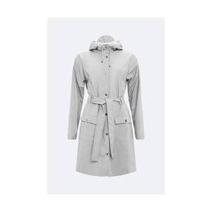 Sivý dámsky plášť s vysokou vodoodolnosťou Rains Curve Jacket, veľkosť L/XL