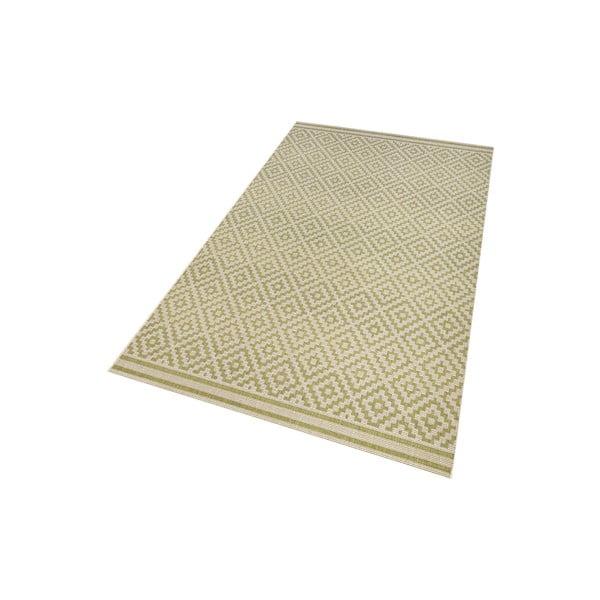 Zelený koberec vhodný aj do exteriéru Hanse Home Karo, 160x230cm