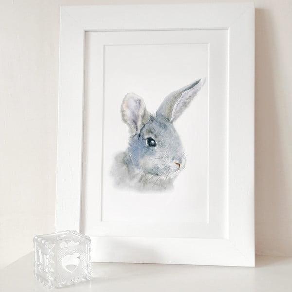Plagát Bunny Portrait A4