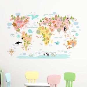 Nástenná samolepka Ambiance Baby World Map