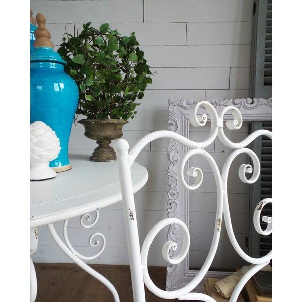 Kovová stolička Old White