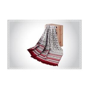 Deka s prímesou bavlny Aksu Mistic Stripe, 200 × 150 cm