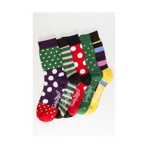 Sada 5 párov unisex ponožiek Funky Steps Quies, veľkosť 39/45