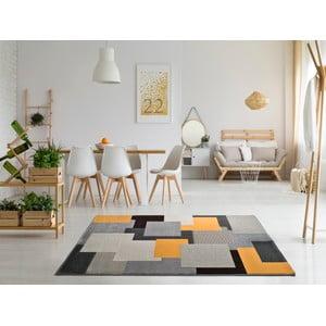 Sivý koberec Universal Leo Square, 160 × 230 cm